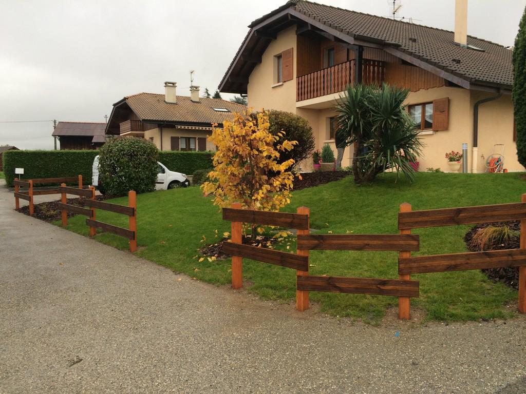 Paysagiste Thonon les Bains - barrieres bois | Paysagiste Haute ...