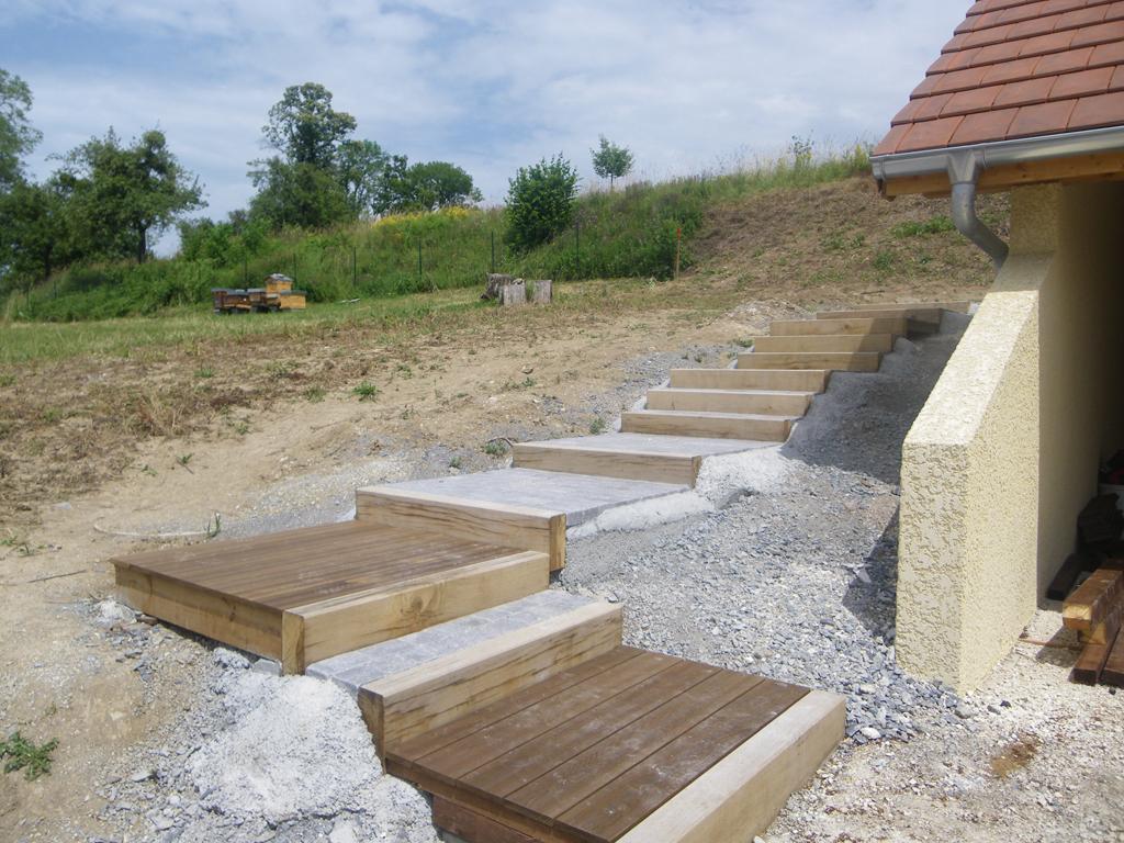 Paysagiste thonon les bains am nagement paysager for Escalier paysager