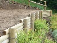 paysagiste vallée verte soutenement bois