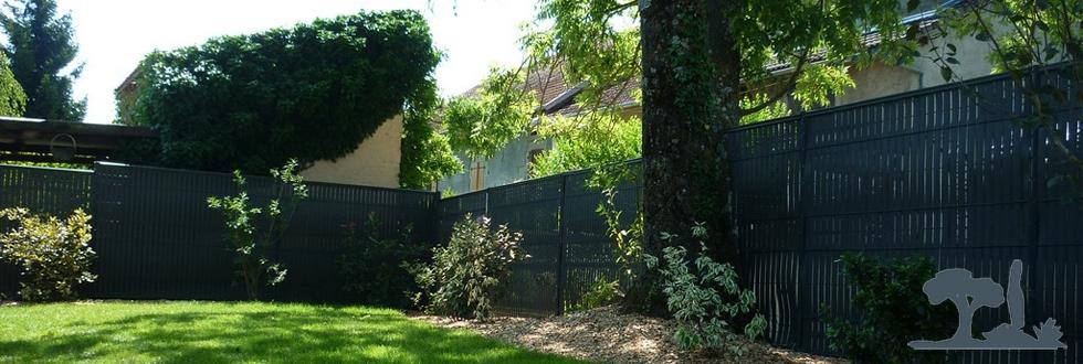 Paysagiste douvaine cl ture panneaux rigides paysagiste haute savoie 74 cr ation de jardin for Cloture de jardin haute savoie