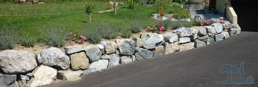 Paysagiste morzine enrochement rochers et traverses for Amenagement jardin savoie